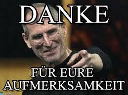 Steve Jobs Meme - danke steve jobs meme on memegen