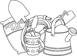garden shovel black and white clipart collection