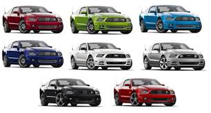 mustang all models 2013 mustang colors with photos for gt and v6 models mustang heaven
