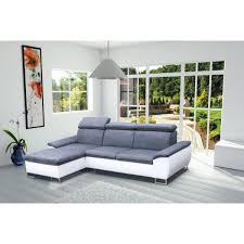 canapé angle 4 places canapé d angle 4 places cayenne couleur gris et blanc
