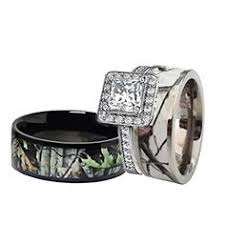 camo wedding bands his and hers camo wedding rings for him and camuoflage weddings
