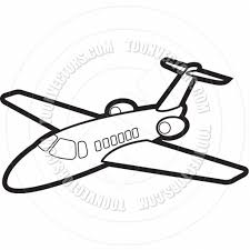 cartoon jet drawing plane drawings clipart clipart kid kids