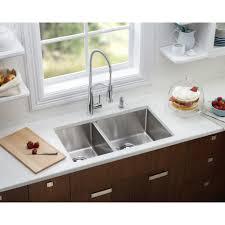 elkay ectru32179l crosstown double bowl undermount kitchen sink in