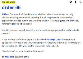 Definition Of Meme Urban Dictionary - urban dictionary order 66 execute order 66 know your meme