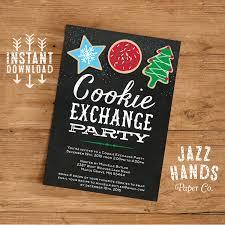cookie exchange invitations template diy printable cookie