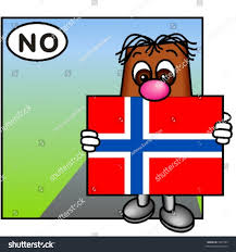 funny guy carrying norwegian flag stock vector 3397785 shutterstock