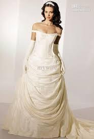 buy cheap fashion a line wedding dress off the shoulder wedding