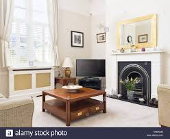 interiors livingroom fireplace traditional stock photos