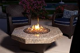 decor modern marble hexagonal tabletop fire pit for luxury patio