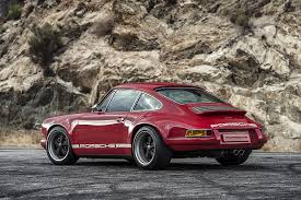 maroon porsche singer vehicle design restored reimagined reborn