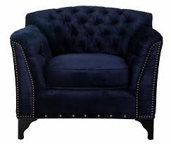 Upholstered Club Chairs by Waterford Navy Velvet Club Chair Tov Furniture Modern Manhattan