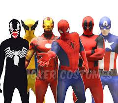 Halloween Costumes Deadpool Morphsuit Marvel Superhero Costume Deadpool Spiderman Cpt America