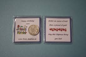 male personalised happy birthday lucky sixpence best friend
