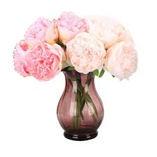 artificial peonies 1 bouquet 5 artificial peony flower big size bridal
