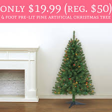 whoa only 19 99 regular 50 4 foot pre lit pine artificial
