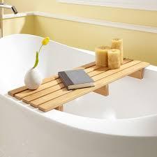 chasse bamboo tub shelf bathroom