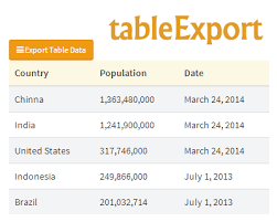 how to convert pdf table to excel tableexport jquery plugin to export html tables jquery plugins