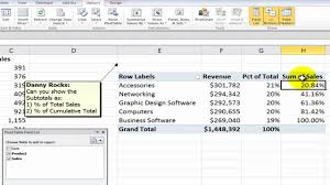 convert the table to a normal range how to show values as percentages of in excel pivot tables youtube