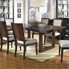 chocolate dining room table shadow ridge modern rectangular casual dining table in chocolate