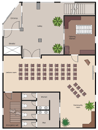 emergency exit floor plan template and training plans solution conceptdraw com