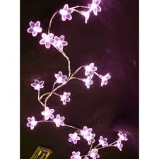 led lighted flowers blooming crystal led light flower garland