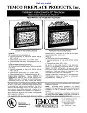 Fireplace Installation Instructions by Temco Tfc39 22 Manuals