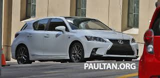 lexus ct200 turbo lexus ct 200h f sport facelift completely undisguised
