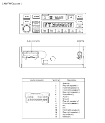 kia sportage audio wiring diagram kia free wiring diagrams