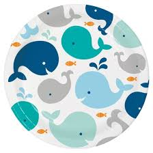 baby plates 8ct blue baby whale paper plates target