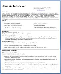 Sample Resume Format For Experienced Software Test Engineer by Download Certified Quality Engineer Sample Resume