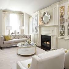 built in living room cabinets chic living room nook is filled with a flat panel tv niche flanked