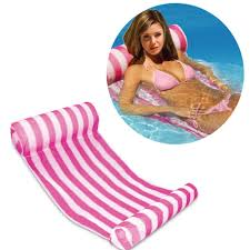 3 color stripe outdoor floating sleeping bed water hammock lounger 3 color stripe outdoor floating sleeping bed water hammock lounger chair float inflatable air mattress swimming