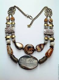 natural stones necklace images Necklace ethnic beads made from natural materials by way of the jpg