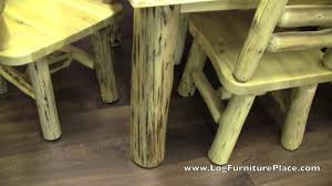 cedar lake log dining table with skirt rustic dining table youtube