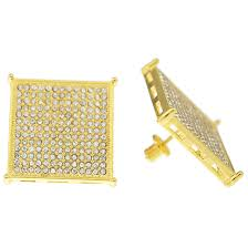 gold back earrings square gold 22mm earrings earrings