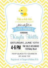 duck baby shower invitations rubber duck baby shower invitation marialonghi