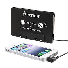 amazon com insten 3 5mm universal car audio cassette adapter for