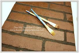 diy faux brick wall tutorial using chalk paint brick paneling