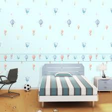 heißluftballon kinderzimmer hellblau engel schlafzimmer tapete