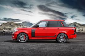 range rover truck black range rover pickup with startech carbon fiber body kit for
