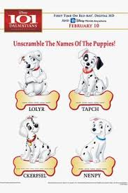 fun kids u0026 family activities 101 dalmatians word 101