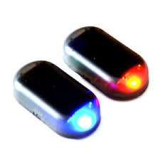 security led lights car fake solar car alarm led light security system warning theft flash