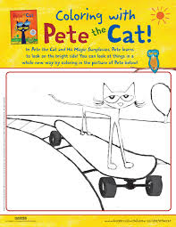 the cat in the hat coloring page pete the cat activities petethecatbooks com