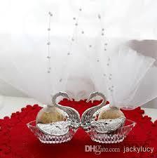 swan wedding wedding favours box acrylic silver swan wedding