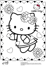 kitty valentine coloring pages coloring pages kitty