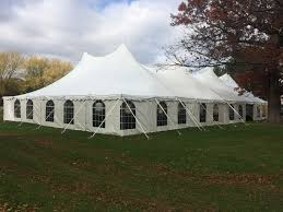chicago tent rental pole tent with sidewalls and windows from house of rental party