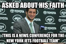 New York Jets Memes - asked about his faith this is a news conference for the new york