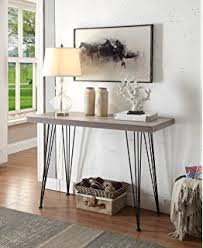 Entryway Console Table Amazon Com Roomfitters Hall Console Table With Side Storage Shelf