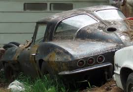 how many 63 split window corvettes were made streetview spies split window corvette rotting away