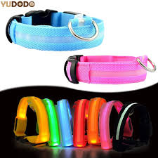 Nylon LED Pet Dog Collar Night Safety FREE Shipping Worldwide